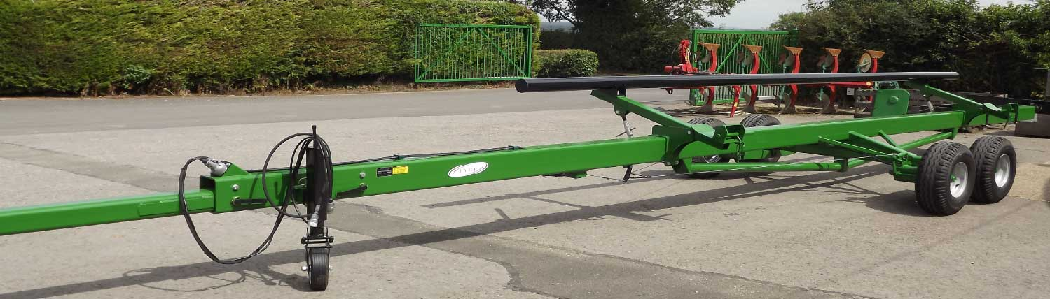 large cutter bar trailers green